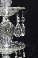 Pair of American Hollywood Regency Mid-Century Crystal Glass Lamps (5 of 9)