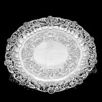 Magnificent Georgian Sterling Silver Tray / Salver with Military Lieutenant Interest - James Fray 1833 (19 of 23)