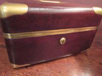 Antique Paris Made Leather & Gilt Bound Jewellery Case (6 of 9)