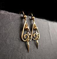 Antique Victorian Diamond Drop Earrings, 15ct Gold (6 of 10)