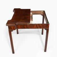 Very Fine Pair of George III Mahogany & Plum Pudding Mahogany Concertina Action Card Tables (9 of 17)