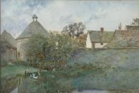 Elisabeth Pilsbury Watercolour ' The Duck Pond'