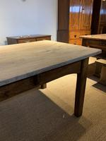 Scrubbed top Elm farm table