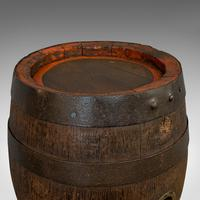 Pair Of, Antique Whiskey Pins, Oak, Barrel, Side Table, Taunton, Victorian, 1900 (2 of 11)