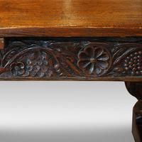 Antique Oak Large Draw-leaf Dining Table (9 of 9)