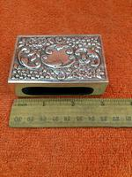 Antique Sterling Silver Heavy Hallmarked  Matchbox Case , 1890 Samuel Walton Smith (5 of 12)