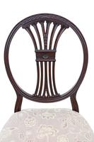 Set of 8 '6+2' Carved Mahogany Dining Chairs Late 19th Century (6 of 12)