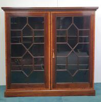Pair of Edwardian Inlaid Mahogany Floor Bookcases (2 of 4)