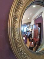 Antique Plaster Gilt Convex Wall Mirror (2 of 7)