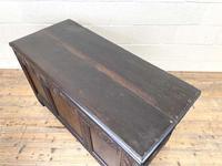 18th Century Antique Oak Panelled Coffer (10 of 12)