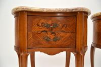 Pair of Antique French Marble Top Kidney Bedside Tables (4 of 12)