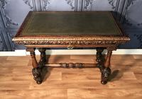 Victorian Carved Oak Library Table (12 of 25)