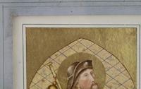 Antique Illuminated Watercolour of Saint Rochus (5 of 7)