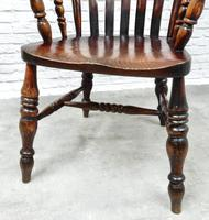 19th Century Lincolnshire Windsor Lathback Armchair (5 of 10)