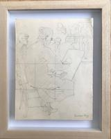 Original Pencil Drawing Squared for Transfer 'The life class' by William Dring RA. 1904-1990. Studio Stamped c.1935 (2 of 2)