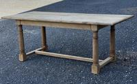 Rustic Bleached Oak Farmhouse Dining Table (4 of 25)
