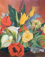 Stunning Original 1960s Vintage / Retro Floral Still Life Oil on Canvas Painting (3 of 11)