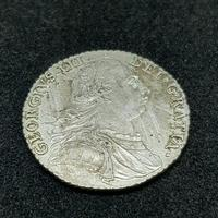 Rare George III Shilling 1787 Silver Coin Great Condition (2 of 2)