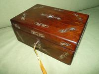 Inlaid Rosewood Jewellery / Table Box c.1860 (8 of 8)