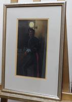 Pastel portrait Victorian soldier in uniform