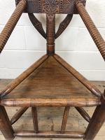 Antique Carved Oak Corner Chair (5 of 10)