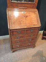 Small Antique Burr Walnut Bureau Bookcase (12 of 12)