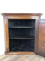 Antique Georgian Oak Hanging Corner Cupboard (7 of 12)