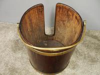 George III Mahogany & Brass Bound Plate Bucket (7 of 8)