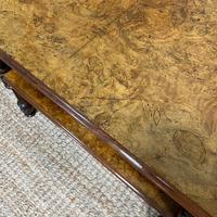 Small Figured Walnut Victorian Antique Coffee Table (2 of 5)