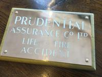 Prudential Name Plate
