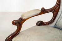 Pretty Pair of Victorian His and Her Walnut Parlour Chairs (9 of 9)