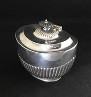Victorian Silver Plate Oval Tea Caddy (2 of 4)
