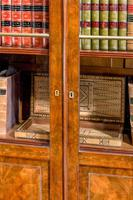 19th Century Walnut Bookcase/Chinese Cabinet (5 of 5)