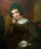 Exquisite Early 1800s Georgian Portrait Oil Painting of Beautiful Seated Lady (3 of 11)