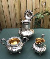 19th Century Silver Plated 3 Piece Tea Set (5 of 5)