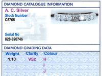 1.10ct Diamond & Platinum Full Eternity Ring c.1940 (6 of 9)
