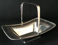 Georgian Silver Plate Swing Handle Cake / Bread Basket (2 of 4)