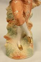 Antique Pair of Bisque Figurines of Lady & Gentleman (6 of 13)