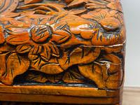Chinese Camphor Wood Carved Birds & Flowers Chest Coffee Table (7 of 34)