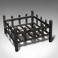 Antique Fireplace Grate, English, Cast Iron, Fire Basket, Late Victorian c.1900 (7 of 10)