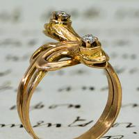 The Antique Late Victorian Diamond Crowned Snake Ring (4 of 5)