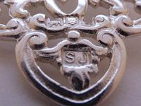 Victorian Birmingham 1898 Hallmarked Solid Silver Nurses Belt Buckle (4 of 8)