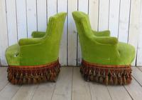 Pair of French Antique Napoleon III Tub Armchairs (5 of 10)