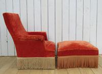 Antique French Armchair & Matching Stool (12 of 13)
