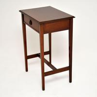 Antique Edwardian Inlaid Mahogany Side Table (3 of 9)