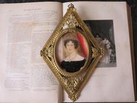 Hand Painted Miniature Portrait Gilt Filigree Frame c.1920 (5 of 5)