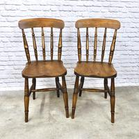 Pair of Antique Windsor Spindleback Chairs (2 of 6)