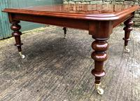 Very Large Victorian Mahogany Extending Dining Table (12 of 16)