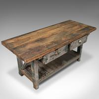 Large Antique Silversmith's Bench, English, Pine, Craftsman's Table, Victorian (7 of 10)