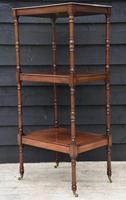 Fine Quality 19th Century Georgian Mahogany Three Tier Whatnot / Display Stand / Shelves. (5 of 11)